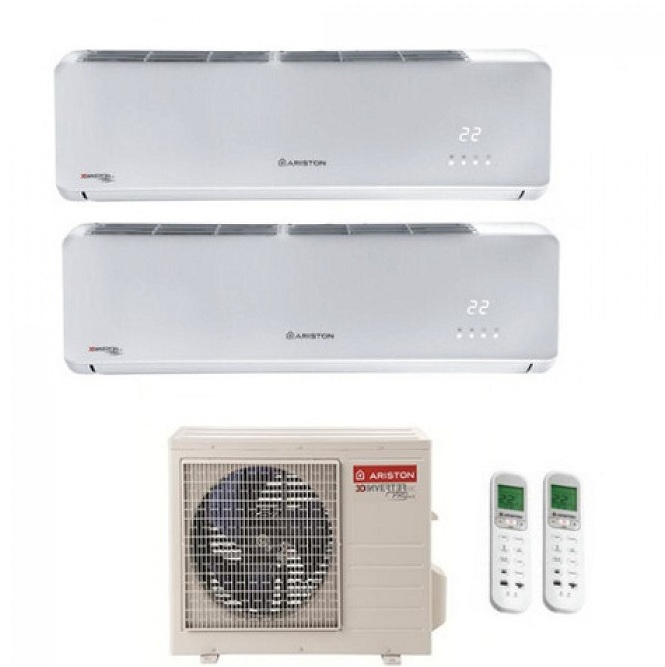 ARISTON DUAL SPLIT INVERTER AERES 12000+12000 BTU con DUAL 55 XDO