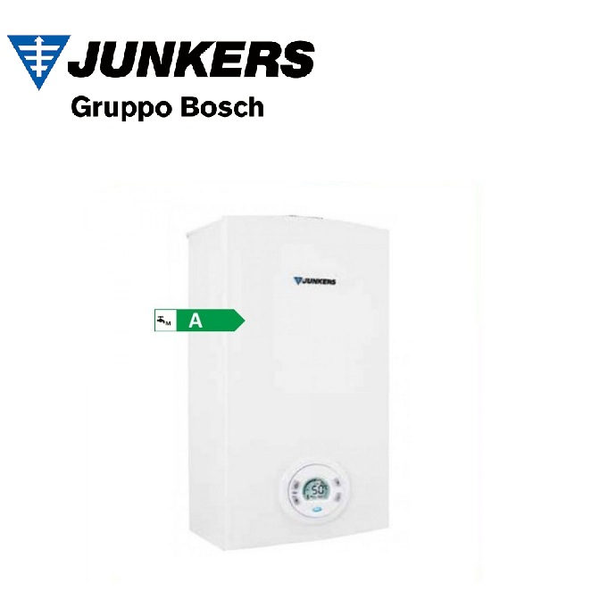 SCALDABAGNO A GAS JUNKERS BOSCH HYDROCOMPACT INDOOR 12 LT MOD. T4600 S12-D23 COMPLETO DI KIT FUMI METANO