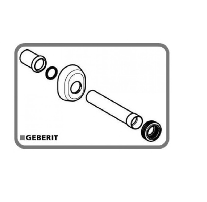 Arredo bagno cassette di scarico for Geberit campana completa per cassetta
