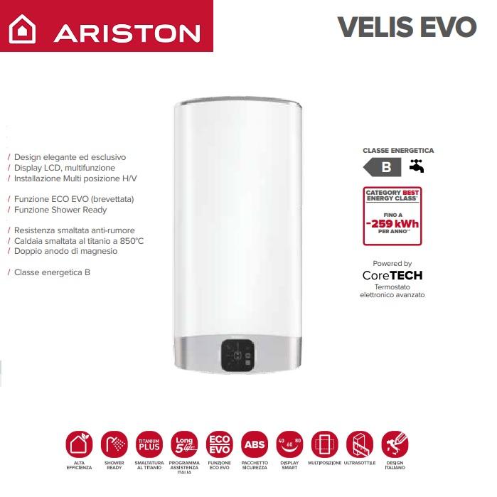 Scaldabagno elettrico ariston ad accumulo velis evo 50 eu 3626145 nuovo modello erp for Scaldabagno elettrico ad accumulo