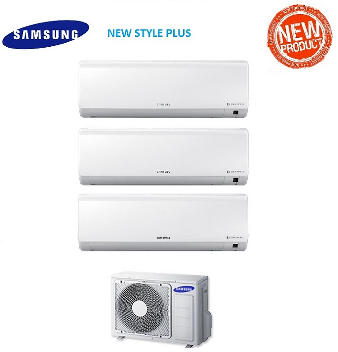 SAMSUNG TRIAL SPLIT INVERTER Serie NEW STYLE PLUS 7000+7000+7000 con AJ052FCJ - MODELLO 2017