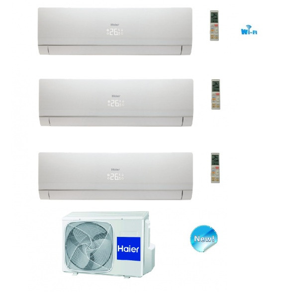 HAIER TRIAL SPLIT INVERTER NEBULA WHITE 7000+7000+7000 CLASSE A++ WIFI READY +3U19FS1ERA - NEW 7+7+7