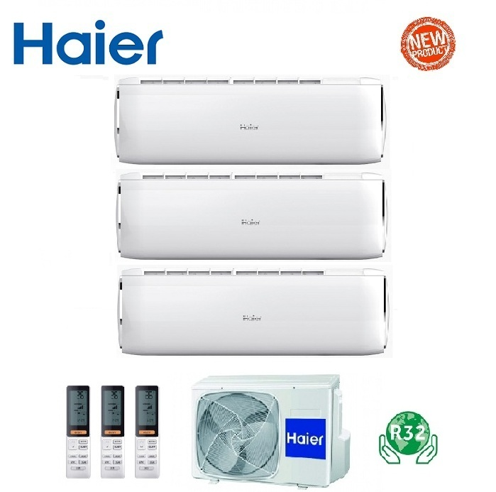 HAIER TRIAL SPLIT INVERTER DAWN R-32 7000+9000+9000 CON 3U52S2SG1FA WI-FI READY 7+9+9