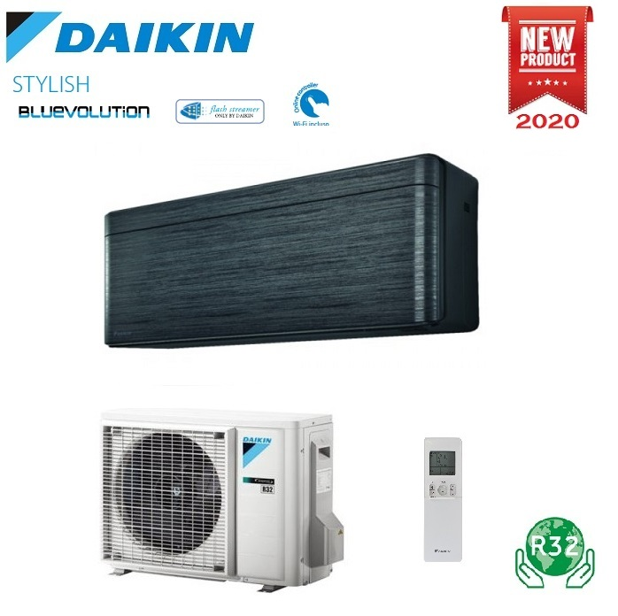 CLIMATIZZATORE CONDIZIONATORE DAIKIN BLUEVOLUTION INVERTER STYLISH FTXA20BT BLACKWOOD 7000 Btu WiFi A+++ R-32 - NEW REAL BLACKWOOD
