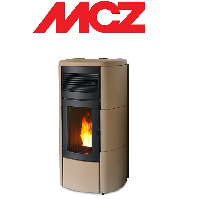 STUFA A PELLET MCZ CLUB HYDROMATIC 16 TOP E FIANCHI IN CERAMICA – 16 KW SABBIA