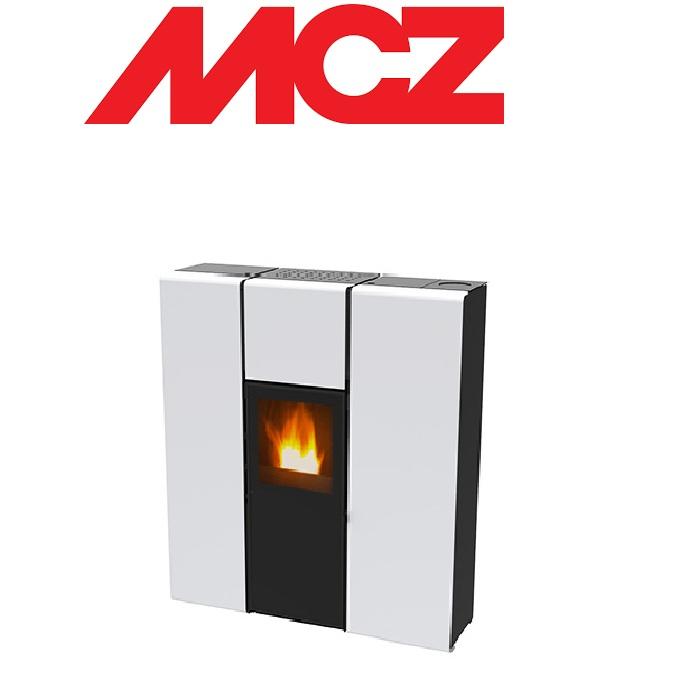 Stufa a pellet idro mcz flux hydro 16 kw bianca for Mcz flux prezzo