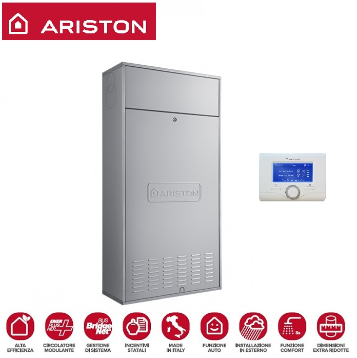 CALDAIA ARISTON A CONDENSAZIONE CLAS ONE IN 25 METANO O GPL PER INCASSO COMPLETA DI KIT FUMI - NEW ERP