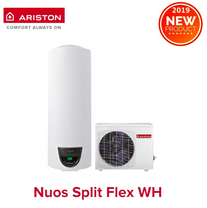 SCALDABAGNO A POMPA DI CALORE ARISTON NUOS SPLIT FLEX 200 WH con accumulo di 200 lt -  NEW ErP