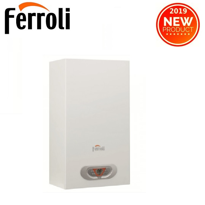 SCALDABAGNO A CAMERA STAGNA FERROLI SKY ECO 11 F LOW NOX A GAS METANO COMPLETO DI KIT PER SCARICO FUMI