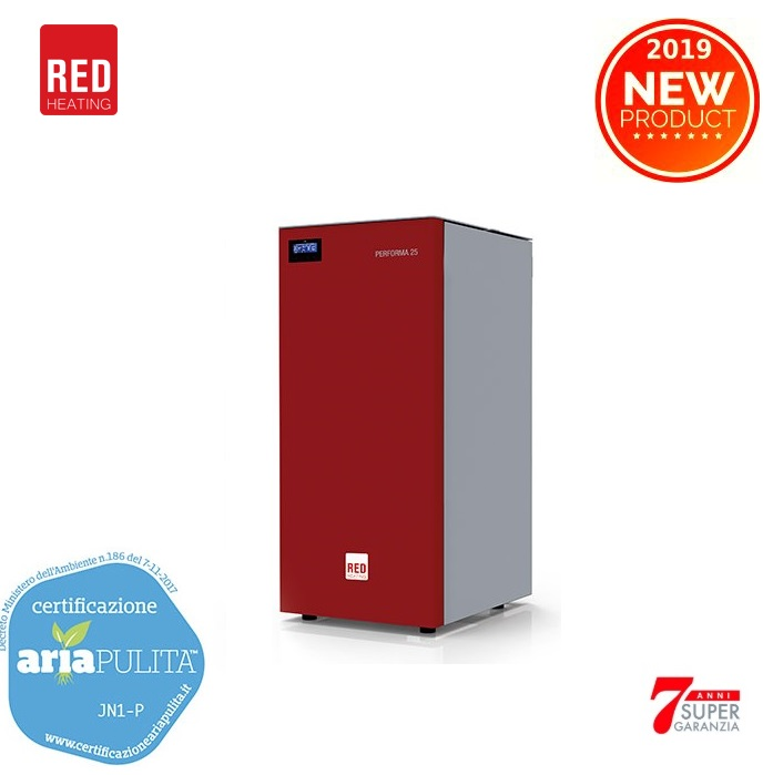 CALDAIA A PELLET RED 365 ENERGY MODELLO PERFORMA EASY CLEAN 25 KW