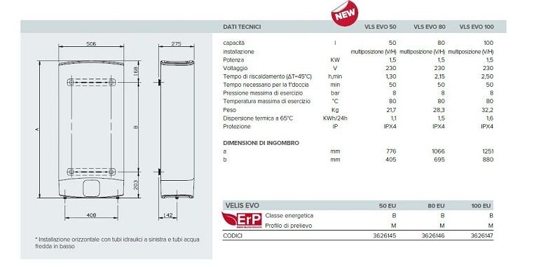 Scaldabagno elettrico ariston ad accumulo velis evo 80 eu 3626146 nuovo modello erp for Scaldabagno elettrico ad accumulo