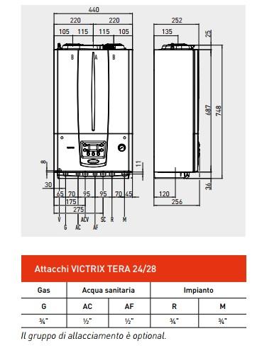 Caldaia immergas victrix tera 24 kw a condensazione for Caldaia immergas victrix exa 24 kw