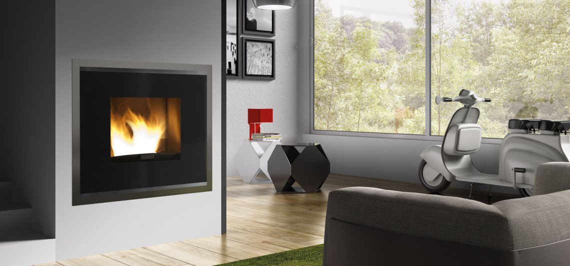 TERMOSTUFA A PELLET KARMEK ONE - MADRID 19 KW - COLORE NERO H1000C - Foto 2